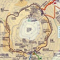 Mt. Fuji Ohachi Meguri trail map