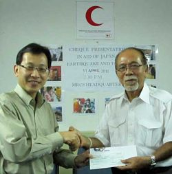 Amway collects RM60,000 in aid of Japan