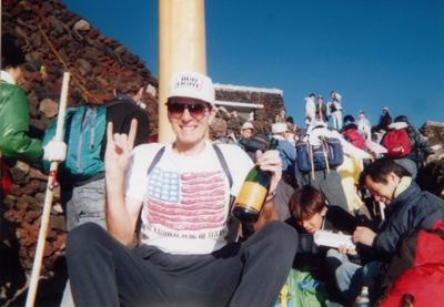 Atop Mt. Fuji