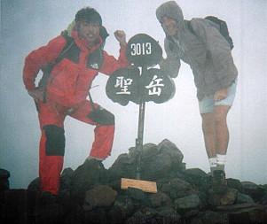 Atop Mt. Hijiri-dake (聖岳)