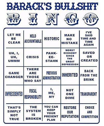 Barack's Bullshit Bingo