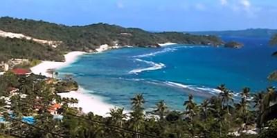 Boracay's Lapuz-Lapuz Beach, as seen from the zipline