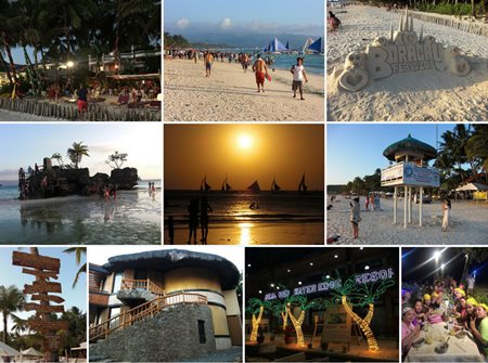 Boracay, Philippines photo collage