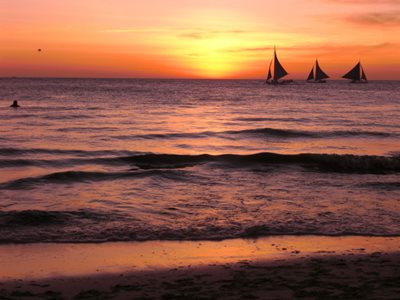 Boracay sunset from White Beach