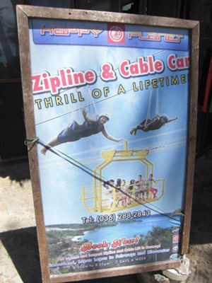 Boracay zipline and cable car