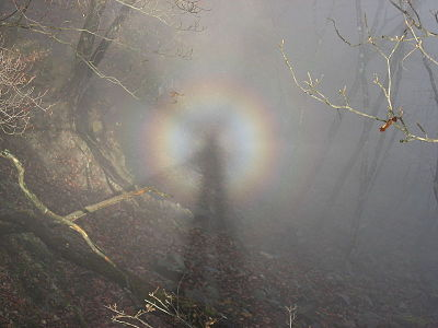 Brocken spectre in Tanzawa Mountains