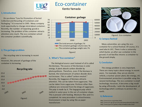 Eco-container poster