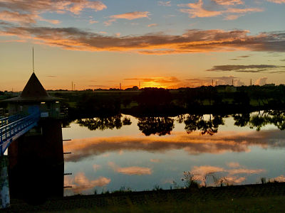 Edogawa sunrise - 20.8.28