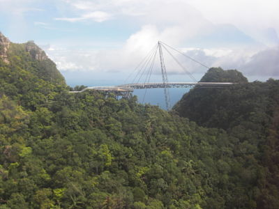 Hanging Bridge near top of Langkawi Cable Car