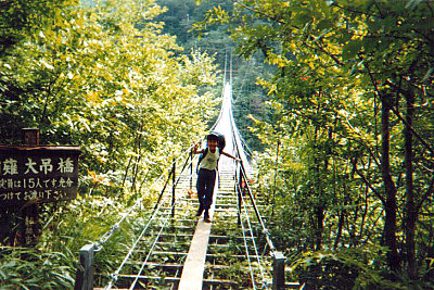 Hatanagi Otsurihashi suspension bridge (畑薙大吊橋)