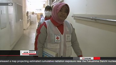 Indonesian nurse working in tsunami-hit town