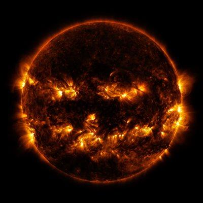 jack-o-lantern sun