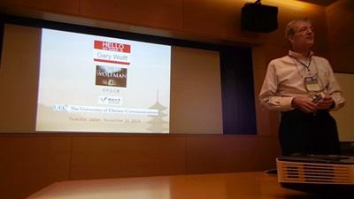 JALT2014 presenter Gary Wolff
