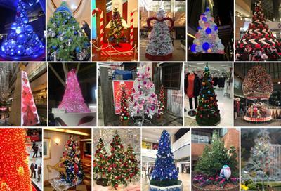 Japanese Xmas tree collage