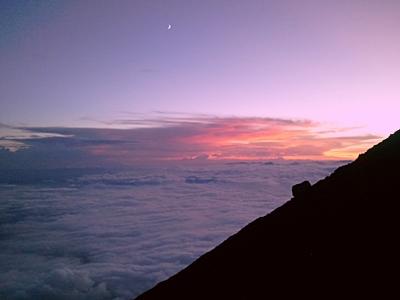 Fuji-san Kengamine sunset