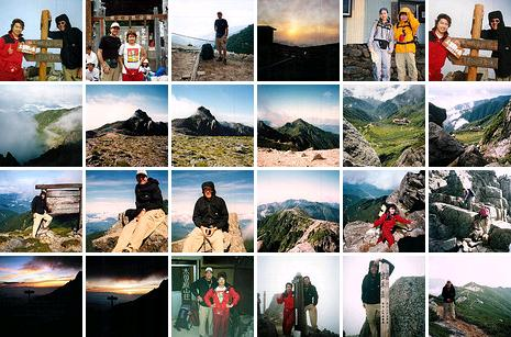 Mt. Kiso-koma-ga-take & Mt. Utsugi-dake photo collage