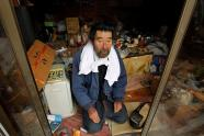 Man stranded in empty Japanese town
