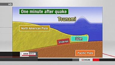 North American plate slipped as far as 30 meters