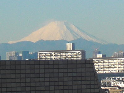 view of Mt. Fuji on Dec. 19, 2009
