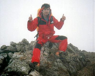 Naoki atop Mt. Hijiri-dake (聖岳)