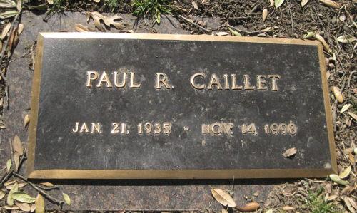 Paul R. Caillet gravestone
