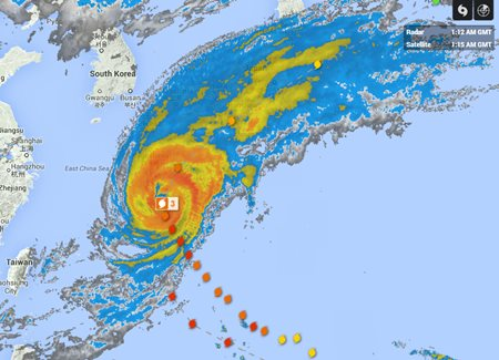 Typhoon Phanfone radar