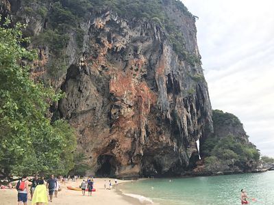 stalactite cliffs on Phra Nang Beach