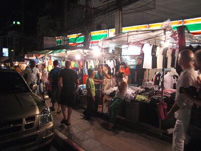 Phuket sidewalk vendors