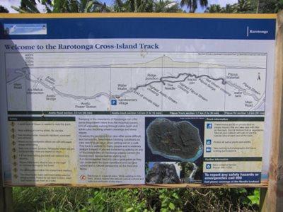 Rarotonga Cross-Island Track map signboard