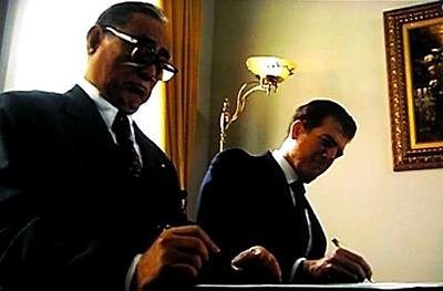 Eisaku Sato & Richard Nixon