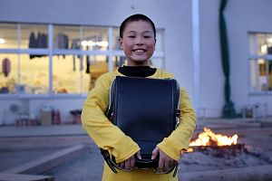 Rikuzentakata boy w/ backpack