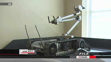 Robot used to investigate reactor buildings