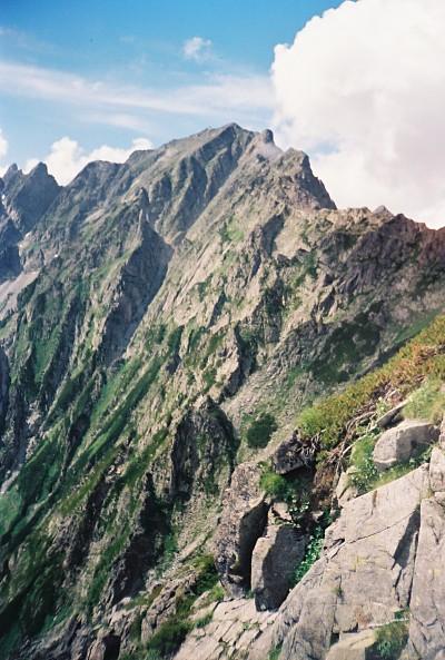 Climbing route up Mt. Oku-hotaka-dake