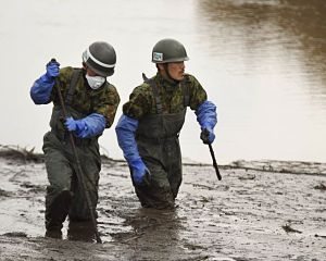 Japan Ground SDF members search for bodies