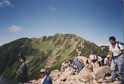 Mt. Senjo-ga-take, from Mt. Ko-senjo-ga-take
