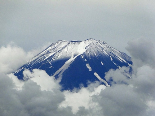 Snowy Mt. Fuji, taken June 22, 2013