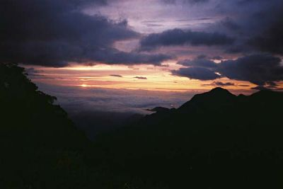 sunset near Suisho-dake