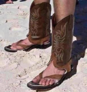 Texas-style beach sandals