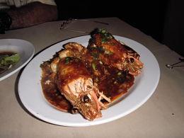 golden spicy tiger prawns