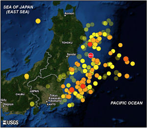 Tohoku quake aftershocks