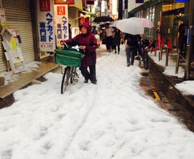 Tokyo hailstorm, June 24, 2014