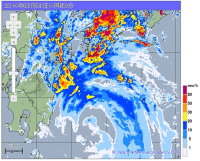 Typhoon 11 Amedas weather radar