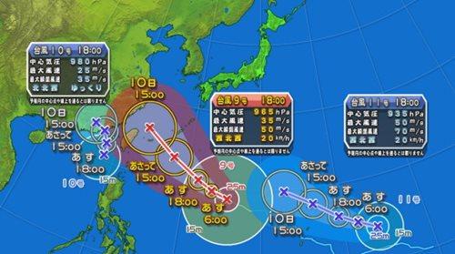 Typhoons 9, 10, & 11
