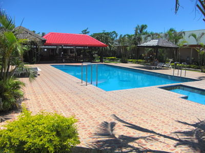 Swimming pool @ Wailoaloa Beach Resort Fiji