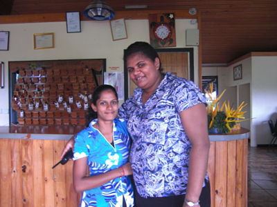 Friendly staff @ Wailoaloa Beach Resort Fiji