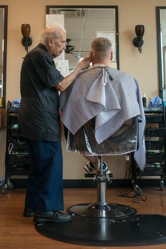 107-year-old barber