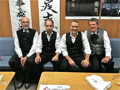 Ryomaden actors in the NHK actor's lounge