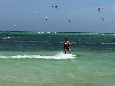 Boracay kitesurfers on Bulabog Beach