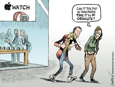 Apple watch cartoon