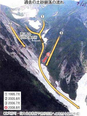 Daisekkei rockfall routes